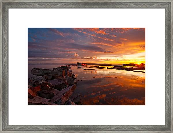 Orange Hulks Framed Print