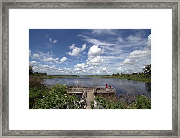 Orange Lake Framed Print