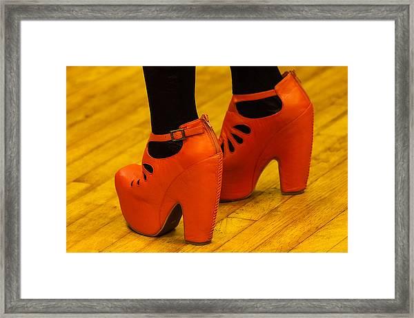 Orange Pair Framed Print