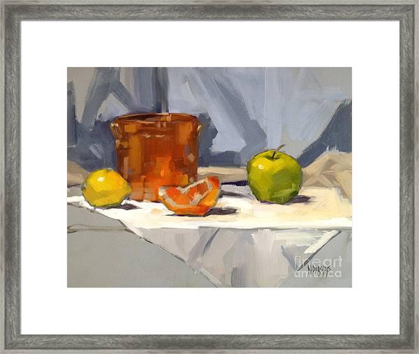 Orange Reflections Framed Print