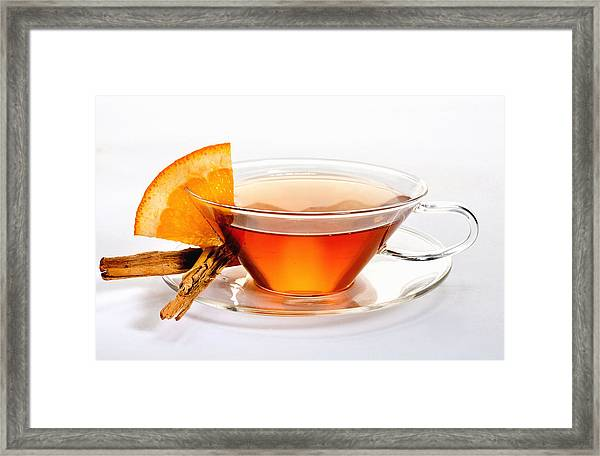 Orange Tea 5528 Framed Print