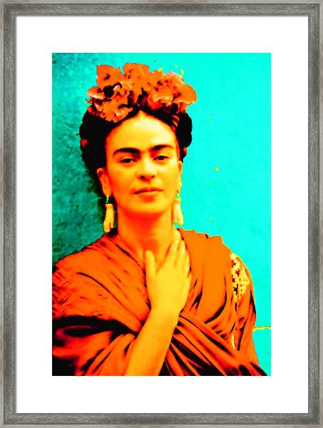Orange You Glad It Is Frida Framed Print