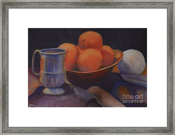 Framed Print featuring the painting Oranges by Genevieve Brown