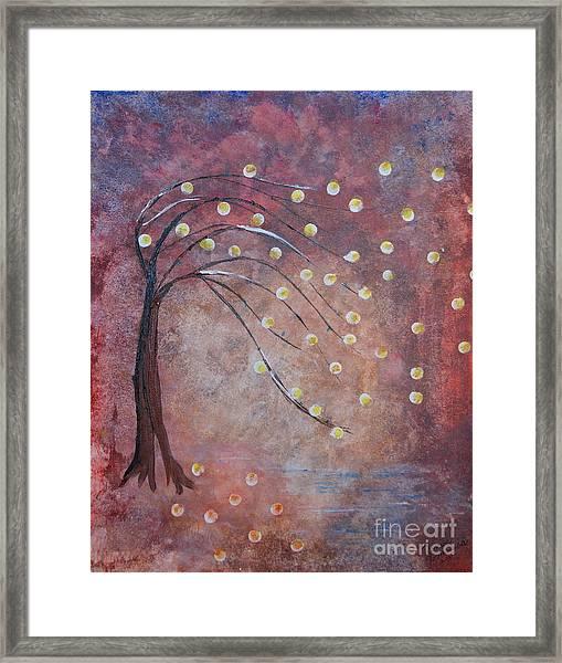 Orb Oak Framed Print