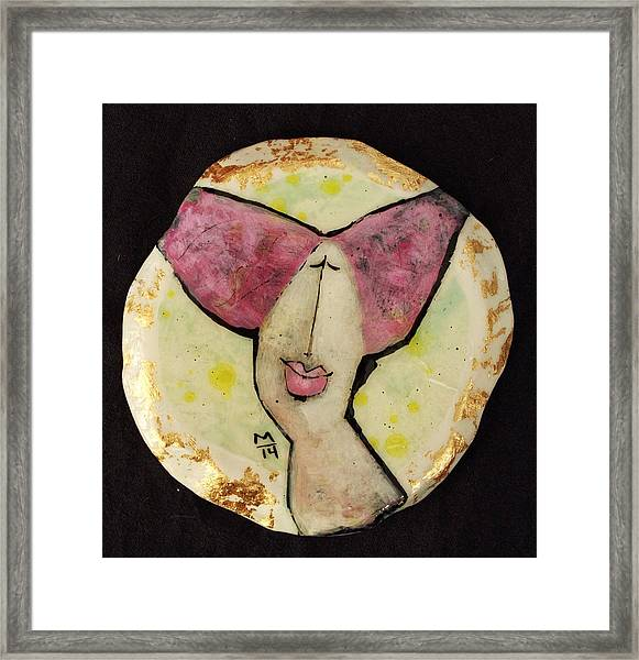 Orbis Woman With Pink Hair  Framed Print by Mark M  Mellon