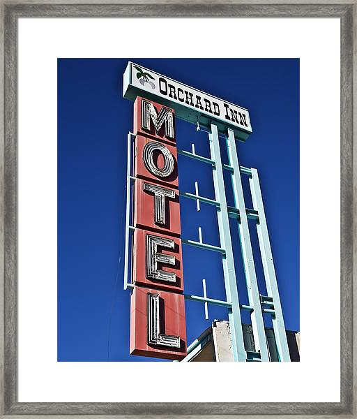 Orchard Inn Motel Framed Print