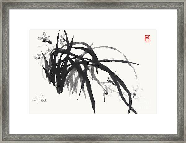 Orchid Scent Pervading The Air Framed Print by Nadja Van Ghelue