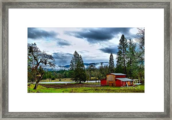 Oregon Farm Blessing Framed Print