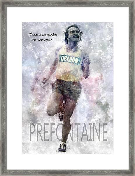 Oregon Running Legend Steve Prefontaine Framed Print