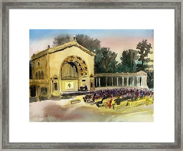 Organ Pavilion Sunset Framed Print