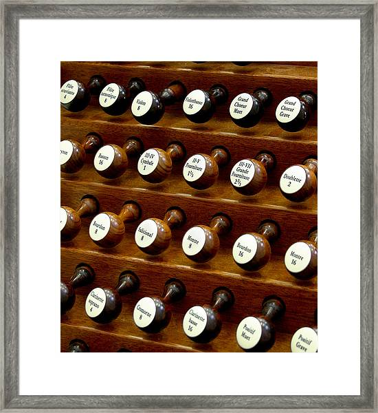 Organ Stop Knobs Framed Print