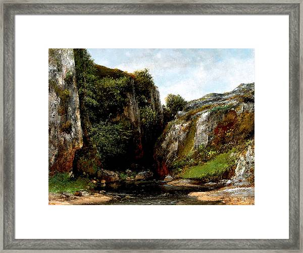 Origin Of A Stream Framed Print