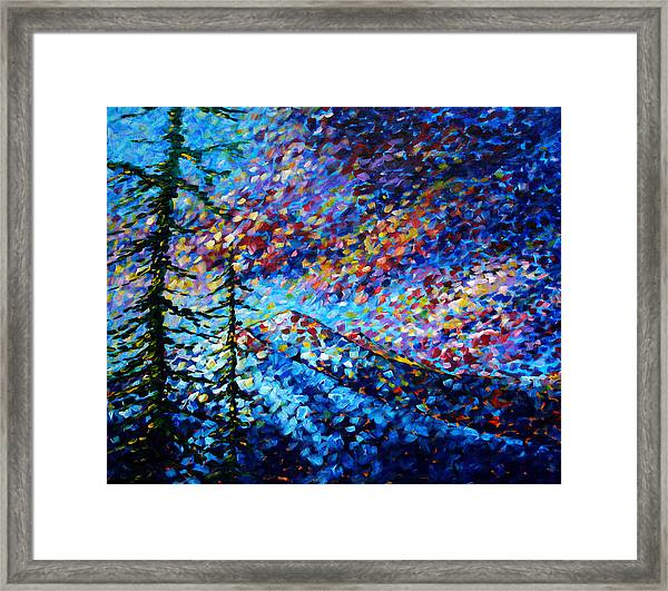 Original Abstract Impressionist Landscape Contemporary Art By Madart Mountain Glory Framed Print
