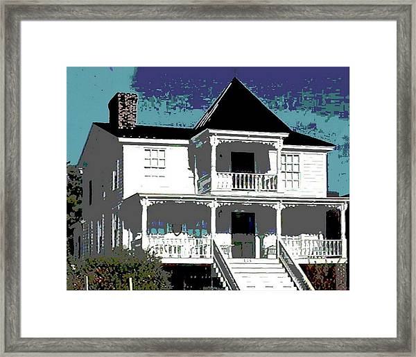 Original Fine Art Digital White House North Carolina Framed Print