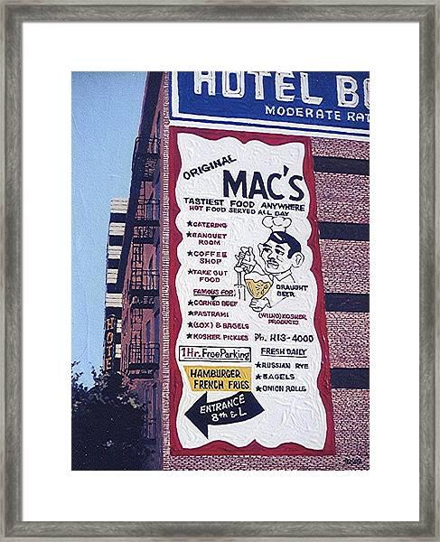 Original Mac's Framed Print by Paul Guyer