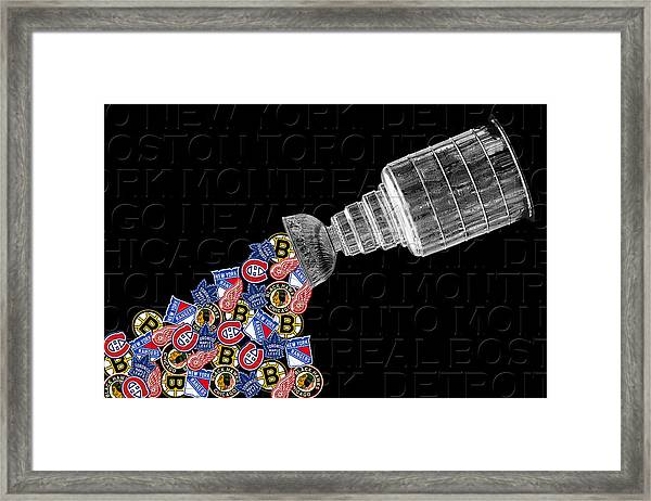 Original Six Stanley Cup 2 Framed Print