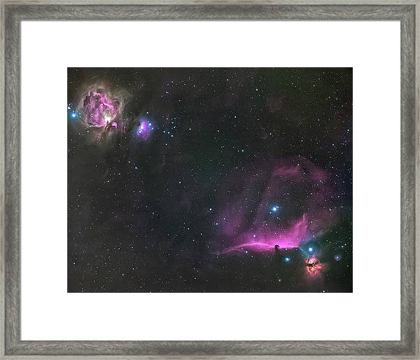 Orion Nebula And The Horsehead Framed Print