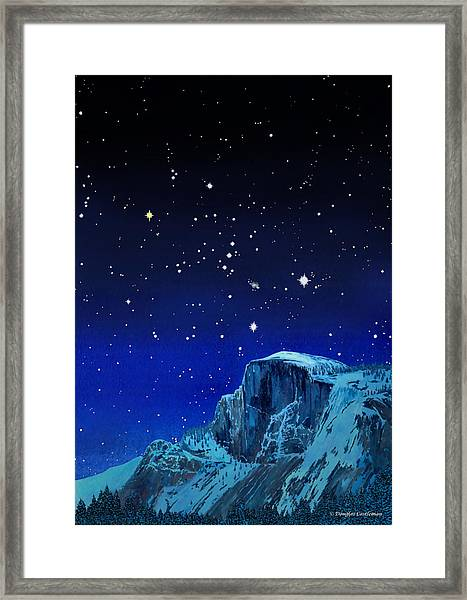 Orion Over Halfdome Framed Print