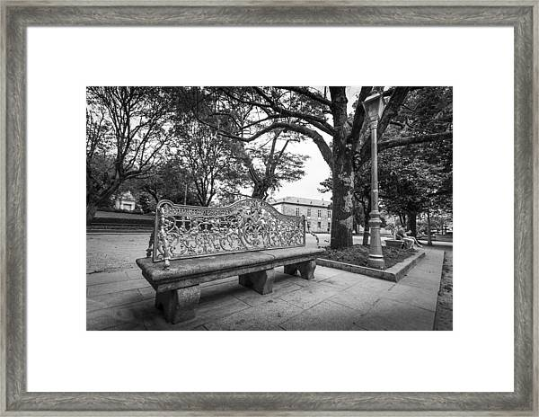 Ornate Bench Framed Print