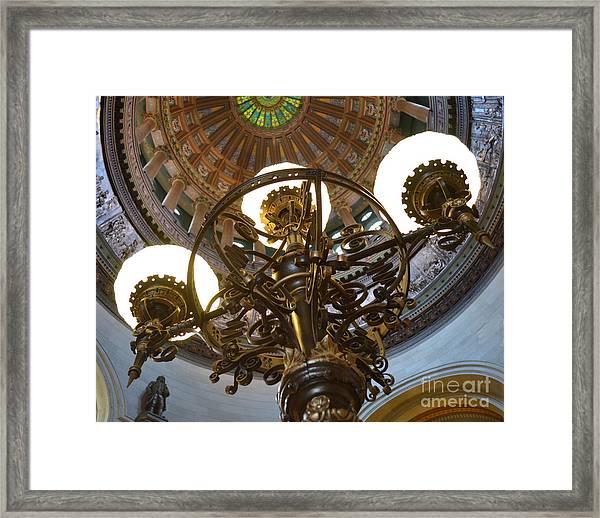 Ornate Lighting - Sprngfield Illinois Capitol Framed Print