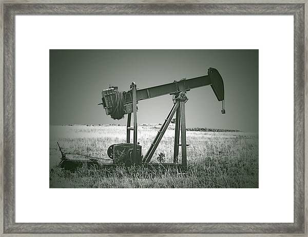 Orphans Of The Texas Oil Fields Framed Print