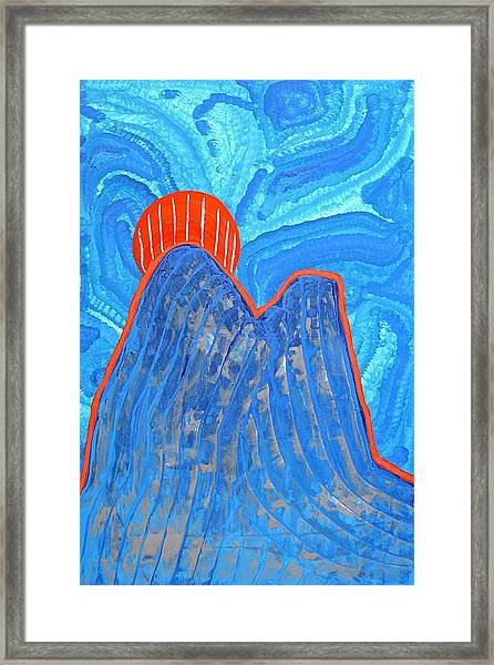 Os Dois Irmaos Original Painting Sold Framed Print