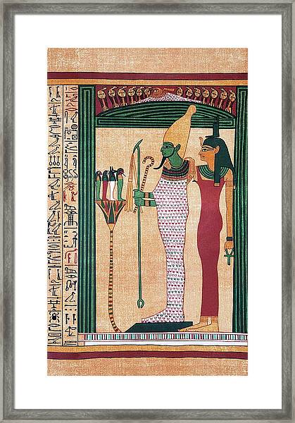 Osiris And Isis Framed Print by Sheila Terry/science Photo Library