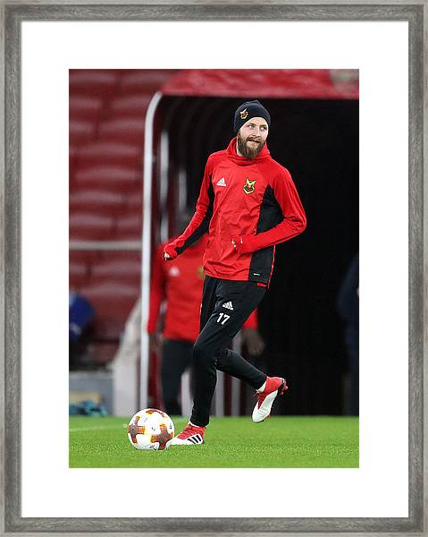 Ostersunds Fk Training Session And Press Conference - Emirates Stadium Framed Print by Adam Davy - PA Images