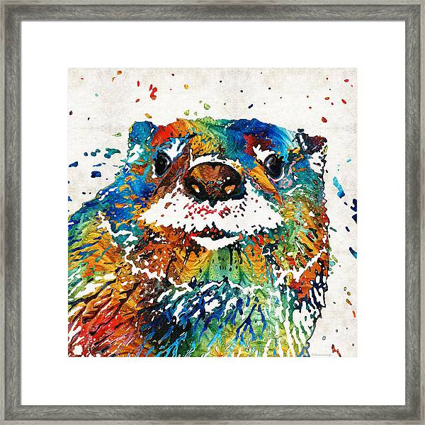 Otter Art - Ottertude - By Sharon Cummings Framed Print