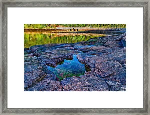 Otter Cove Bridge And Tide Pool Framed Print