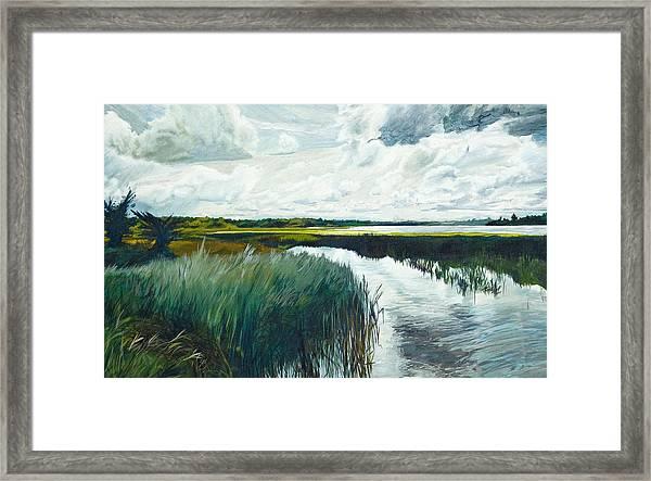 Otter Tail River From Bridge Framed Print