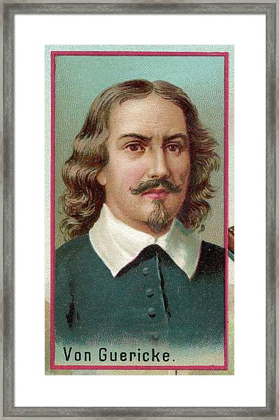Otto Von Guericke  German Physicist Framed Print by Mary Evans Picture Library