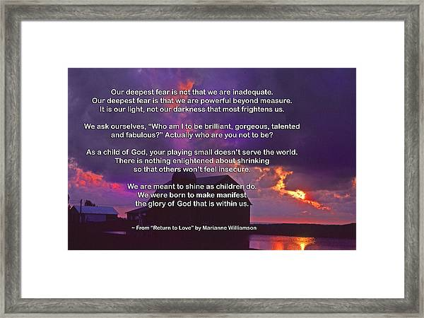 Our Deepest Fear 2 Framed Print by Mike Flynn