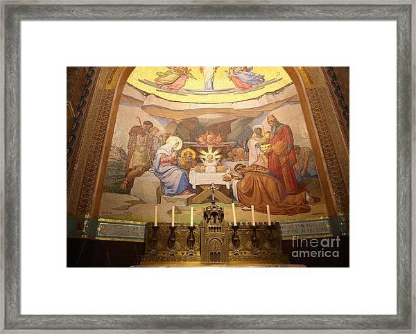 Our Lady Of Lourdes Altar Framed Print