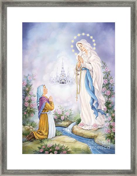 Our Lady Of Lourdes Framed Print