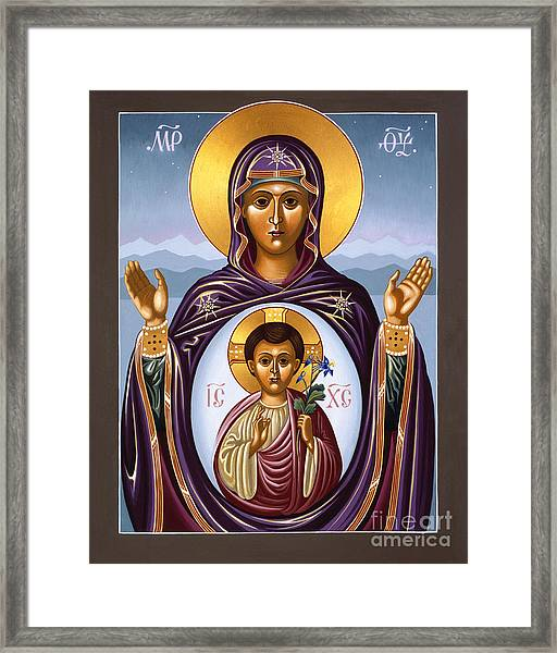 Our Lady Of The New Advent Gate Of Heaven 003 Framed Print