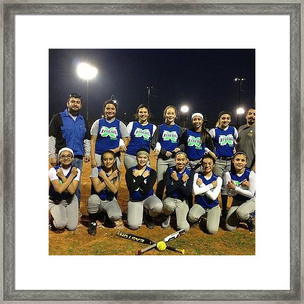 Our Last Game We Played #softball Framed Print