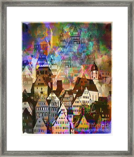 Our Old Town Framed Print