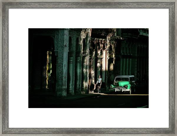 Our Way To Cuba Framed Print by Gina Buliga