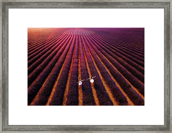 Our Way To ..us Framed Print