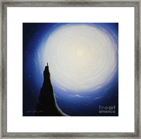 Somewhere Out In Space Framed Print