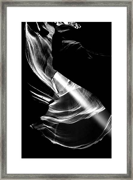 Out Of The Hole Framed Print