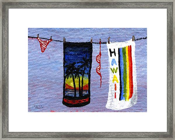 Out To Dry Framed Print