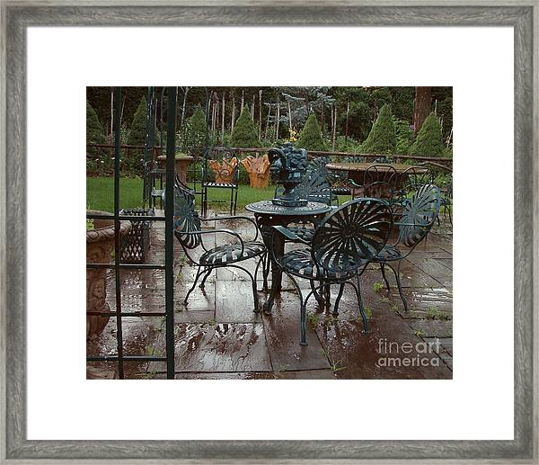 Outdoor Cafe Framed Print