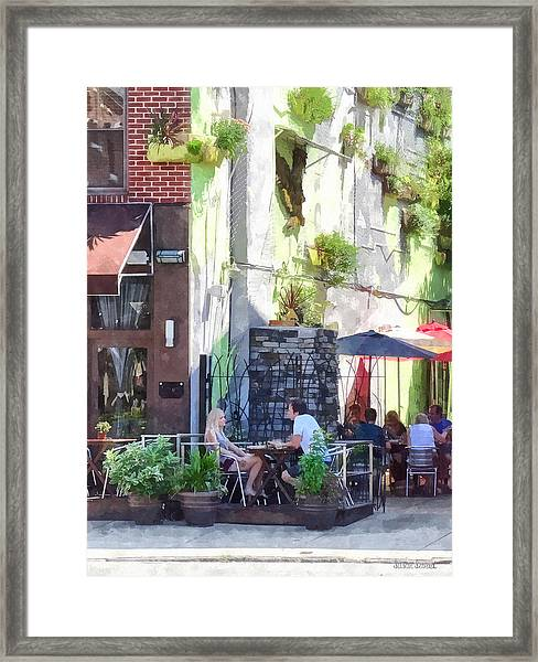 Outdoor Cafe Philadelphia Pa Framed Print