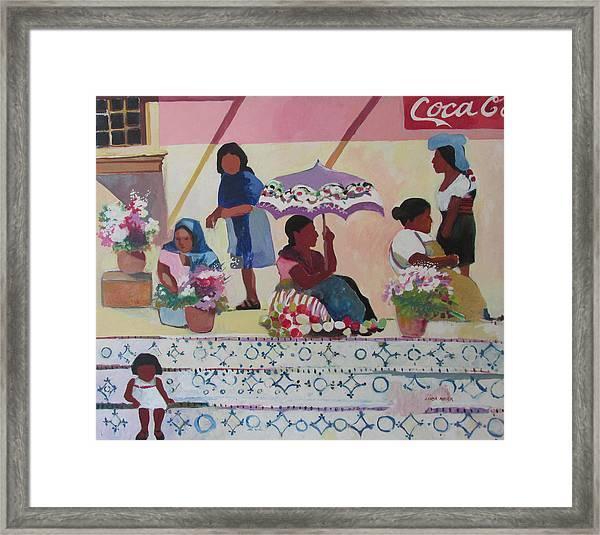 Outdoor Market San Miguel Allende Framed Print