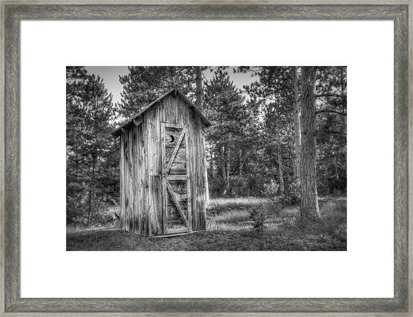 Outdoor Plumbing Framed Print