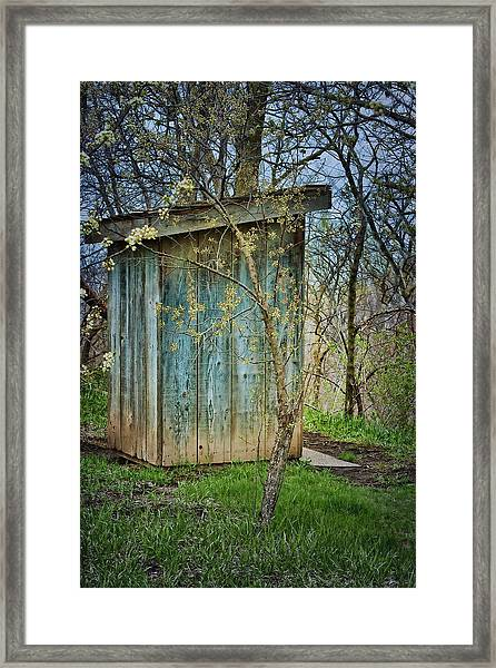 Outhouse In Spring Framed Print