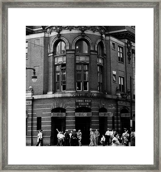 Outside Connie Mack Stadium Framed Print