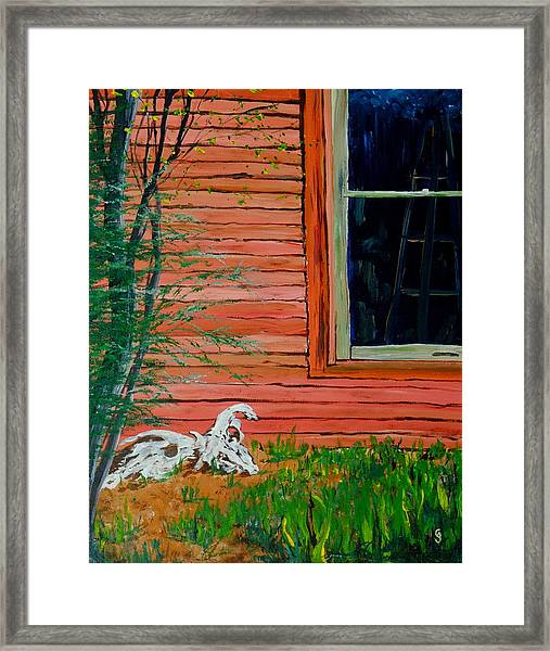 Outside The Artist's Studio Framed Print